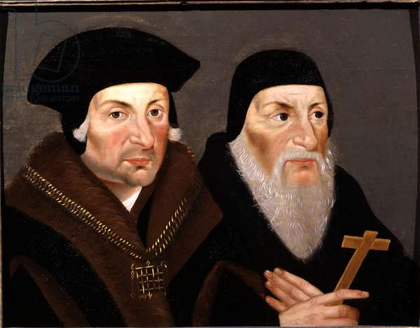 Thomas More and Bishop Fisher, c.1600 (oil on oak panel)