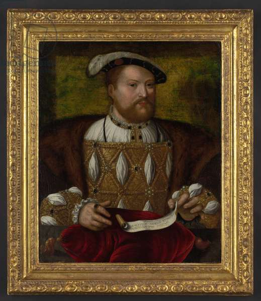 Portrait of Henry VIII (oil on canvas)