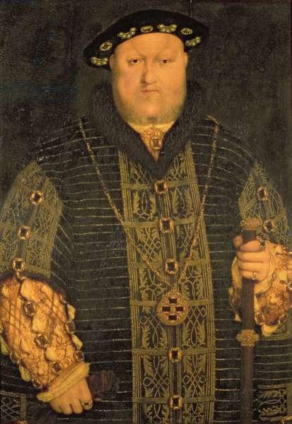 Portrait of King Henry VIII (1491-1547) 1542-50 (oil on panel)