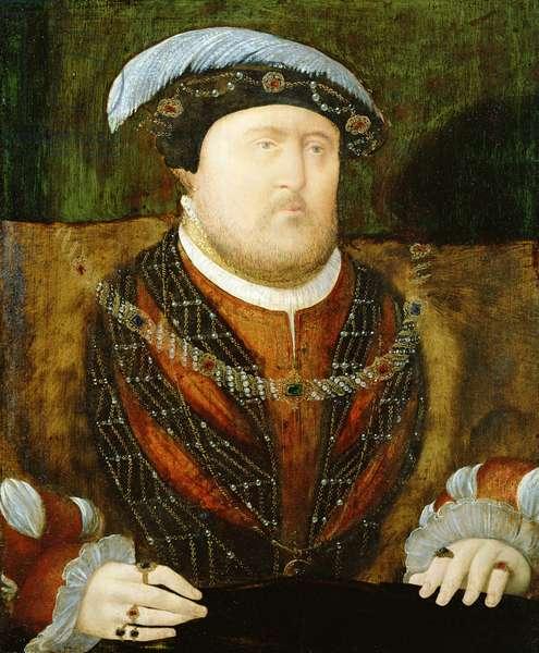 Portrait of King Henry VIII (1491-1547) c.1535 (oil on oak panel)