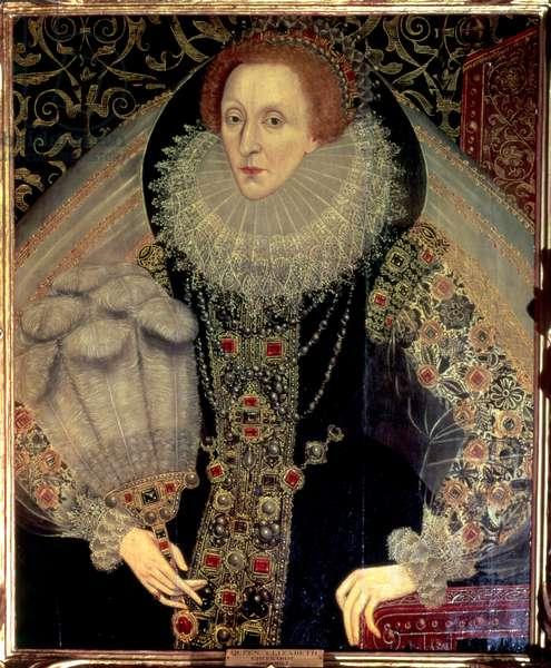 Portrait of Queen Elizabeth I, c.1585-90 (oil on panel)
