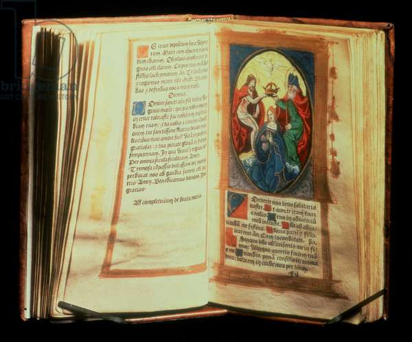 Anne Boleyn's Book of Hours, printed with hand coloured miniatures and coloured initials by G. Hardoun, Paris, c.1528 (vellum)