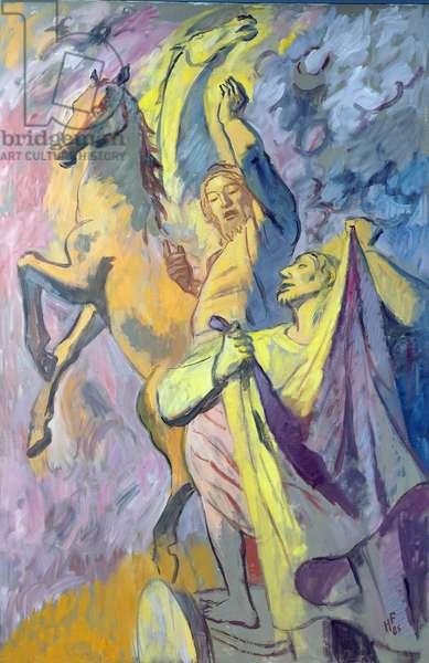 Elijah and Elisha, 1986 (oil on canvas)