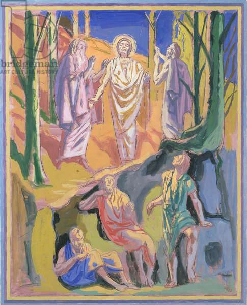 Study for mural of the Ascension, 1973 (gouache on board)