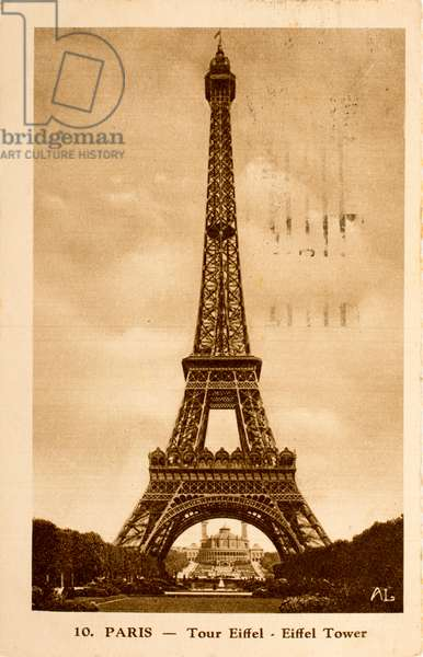 Postcard/Eiffel Tower/Paris/Seine/Ile de France/France