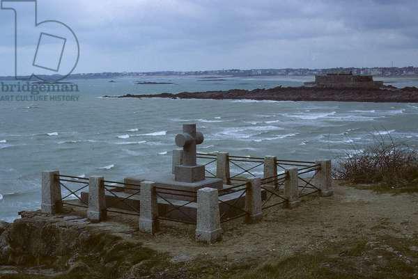 Tomb of Chateaubriand/Grand Be Island/Saint Malo/Ille et Vilaine/France