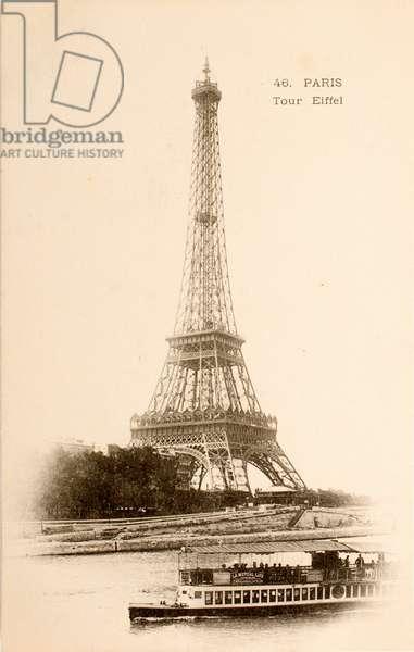 Postcard/Eiffel Tower/Paris/Seine/Ile de France/France