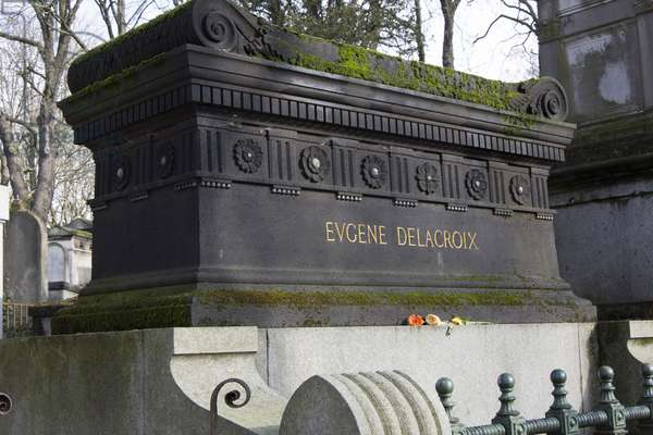 Pere Lachaise Cemetery/Eugene Delacroix/Paris XX/Ile de France/France