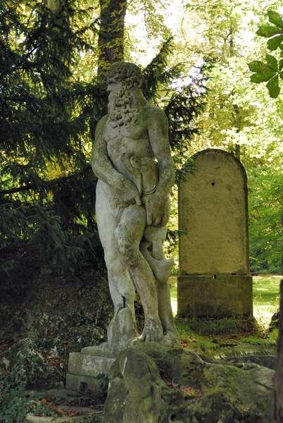 La Malmaison/Statue of Neptune/Napoleon and Josephine de Beauharnais/Rueil Malmaison/Hauts de Seine/France