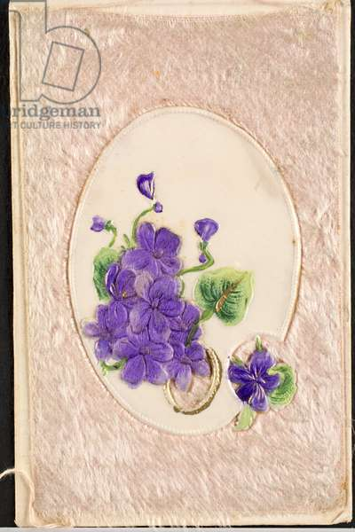 Old fabric postcard/Violet
