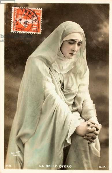 Old postcard/The beautiful Otero (Caroline Otero, 1868-1965)/Actress