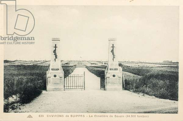 Postcard/Souain Cemetery/La Crouee/44,000 tombs/Suippes/Chalons en Champagne/Marne/Champagne Ardenne/France