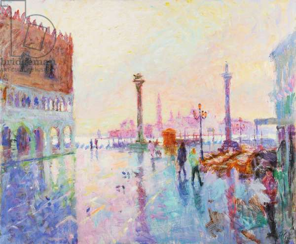 St Mark's Square, Late Winter Morning (oil on canvas)