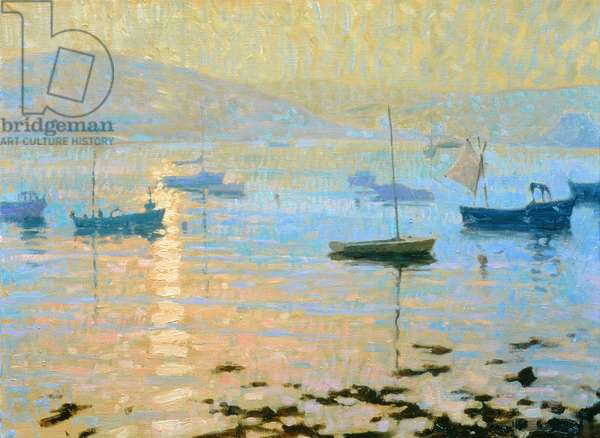 Sea Mist, Evening Sun, Tresco (oil on canvas)