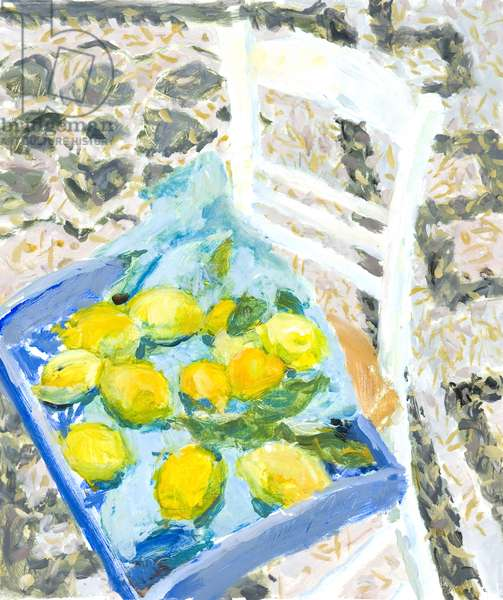 Lemons from the Market (oil on paper on board)