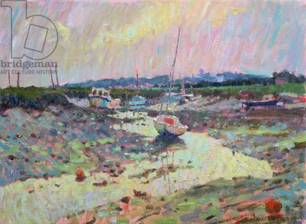 Low Tide, Morston Harbour (oil on canvas)