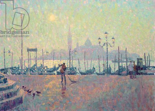 Morning Mist, Sun Rising above San Giorgio Maggiore (oil on canvas)