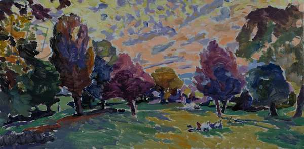 Autumn in the Park, 2015 (oil on canvas)