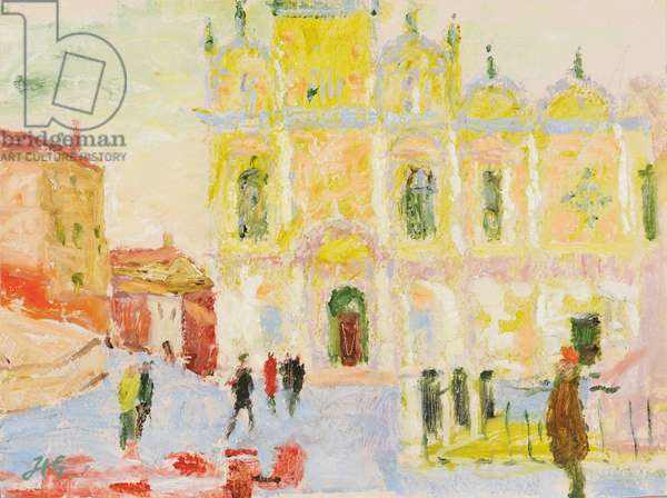 The Ospedale Civile, Venice, Winter Morning, 2007 (oil on gessoed board)