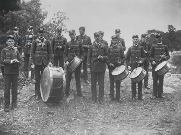 Henry Clay Drum Corps, 30th May 1889 (b/w photo)