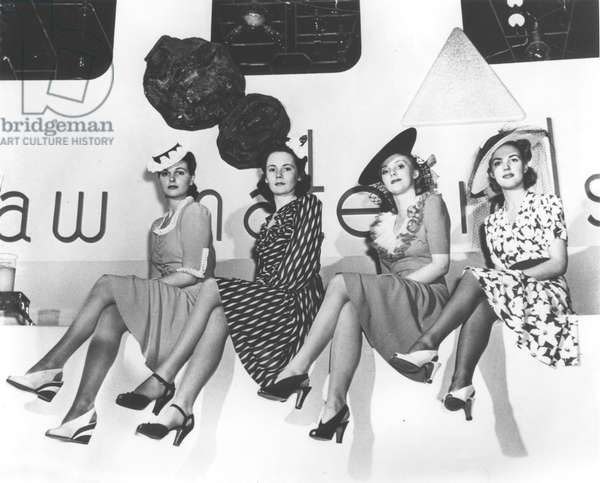Nylon publicity photo, New York World's Fair, 1939 (b/w photo)