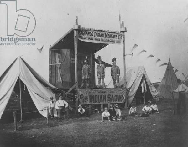 Kickapoo Indian Medicine Company, 1892 (b/w photo)