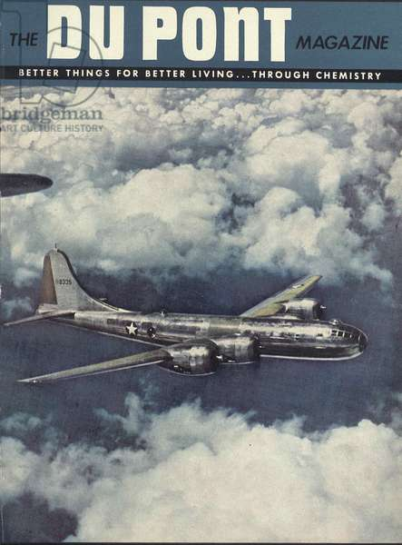 Boeing B-29 Superfortress, front cover of the 'DuPont Magazine', September-October 1944 (colour litho)