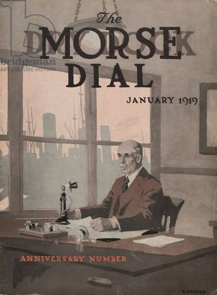 Anniversary Number, front cover of the 'Morse Dry Dock Dial', January 1919 (colour litho)