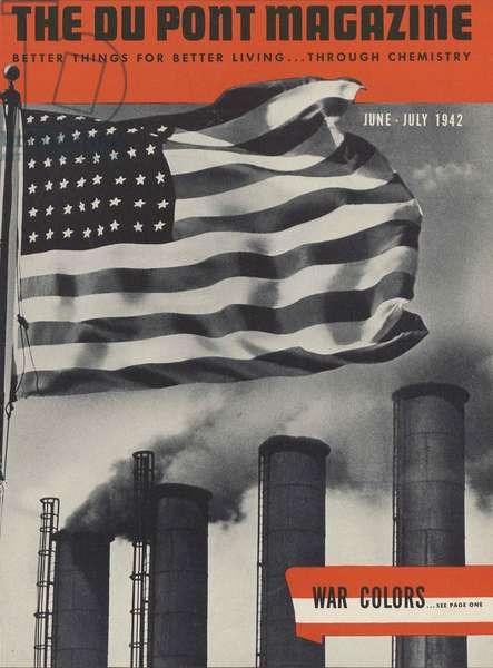 War Colors, front cover of 'The Du Pont Magazine', June-July 1942 (colour litho)
