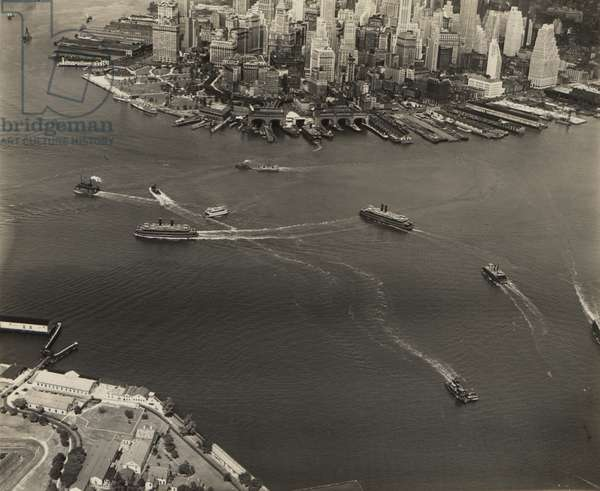 Lower Manhattan, 'Ferry Boat Tag', 7th September 1932 (b/w photo)