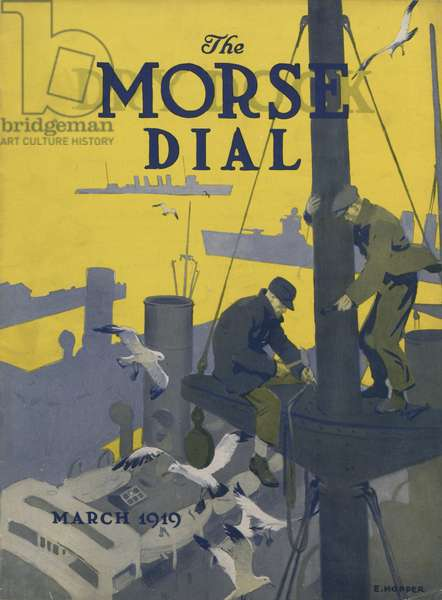 Crewmen, front cover of the 'Morse Dry Dock Dial', March 1919 (colour litho)