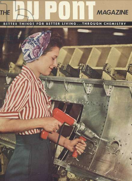 Women at Work, front cover of 'The Du Pont Magazine', 1944 (colour litho)