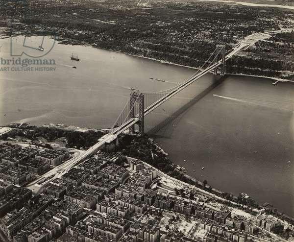 George Washington Bridge, 7th September 1932 (b/w photo)