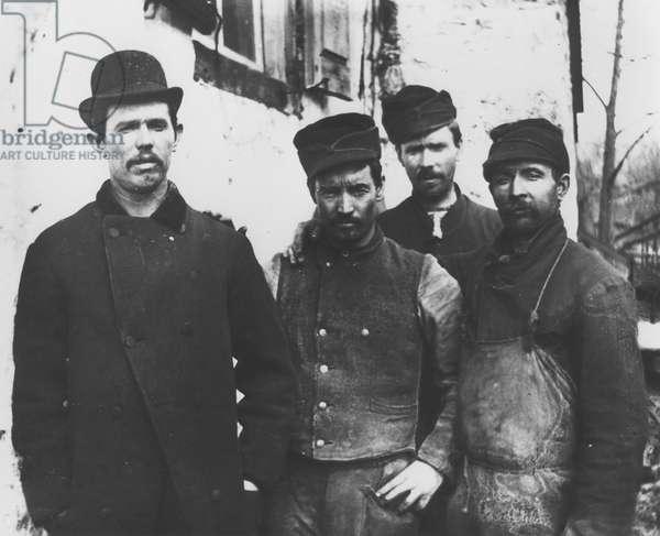 Powder workmen (b/w photo)