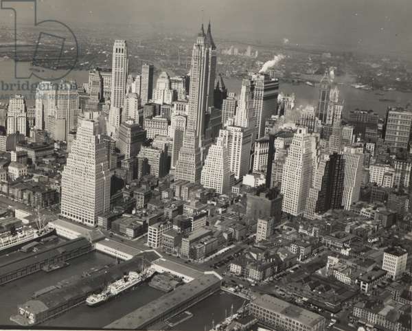 General view, New York City, 26th April 1936 (b/w photo)