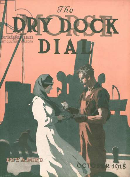Buy a Bond, front cover of the 'Morse Dry Dock Dial', October 1918 (colour litho)
