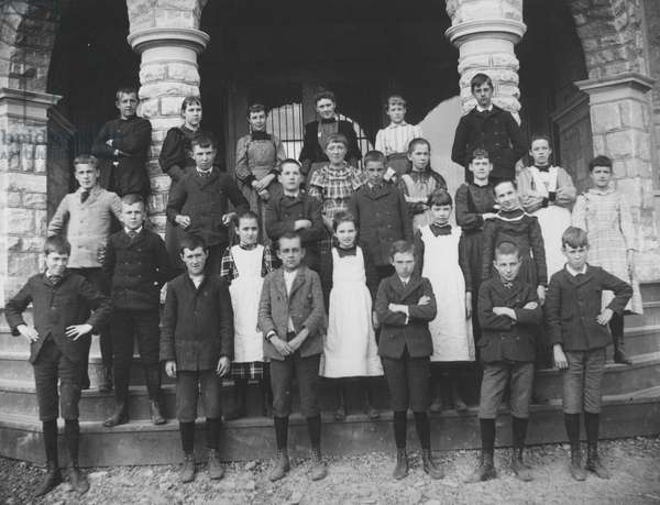 Miss Wither's class at Alexis I. du Pont School, 1894 (b/w photo)
