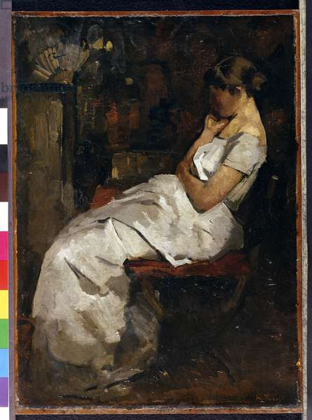 Girl in White, c.1889 (panel)
