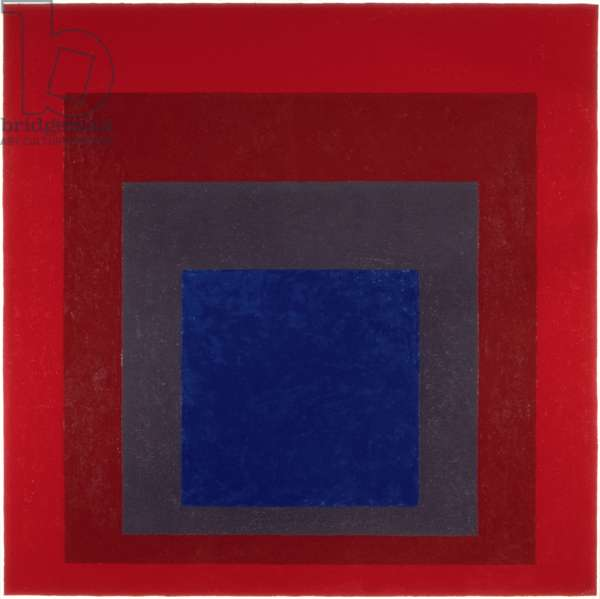 Study for Homage to the Square: Blue Depth, 1961 (oil on hardboard)