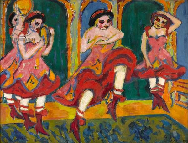 Czardas Dancers, 1908-20 (oil on canvas)