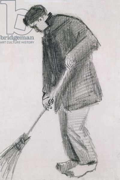 The street cleaner (charcoal on paper)