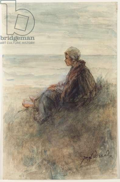 Girl on the dunes (w/c)