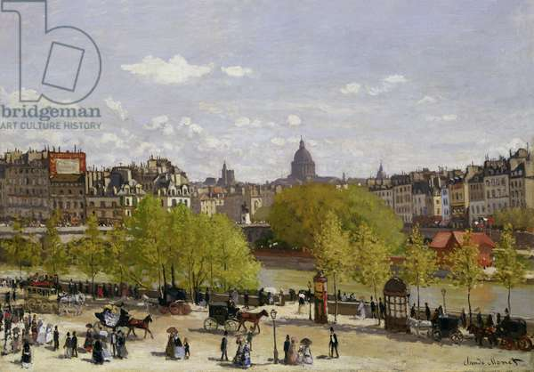 Quai du Louvre, Paris, 1866-67 (oil on canvas)