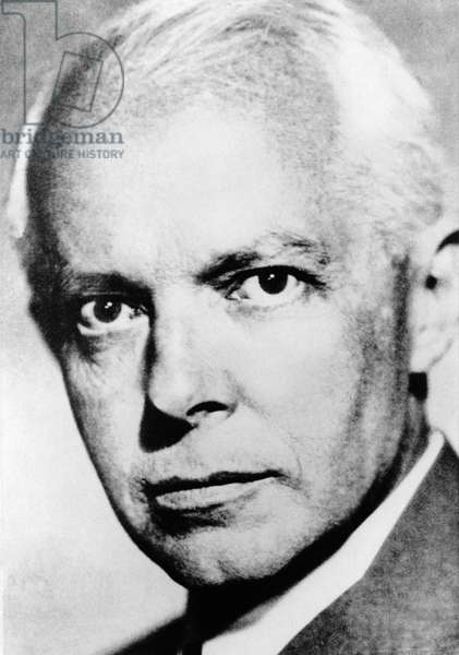 Bela Bartok (1881-1945), Hungarian composer, portrait photograph