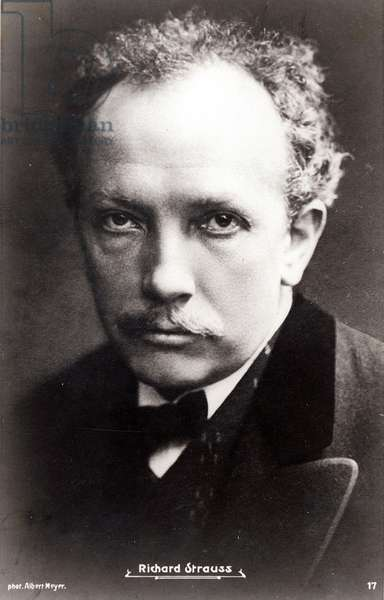 Richard Strauss (b/w photo)