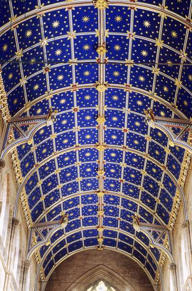 Carlisle Cathedral, View of the vaulted ceiling, Carlisle, Cumbria, UK(photo)