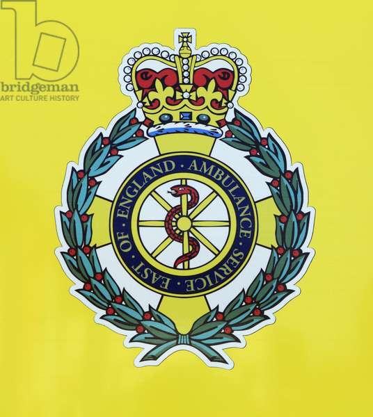 East of England Ambulance Service logo badge (colour litho)