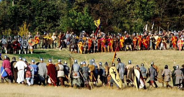 Battle of Hastings re-enactment, Battle, East Sussex (photo)