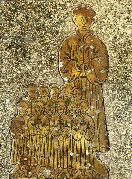Memorial to Roger & Cecilia Felthorpe and family, 1454 (brass)