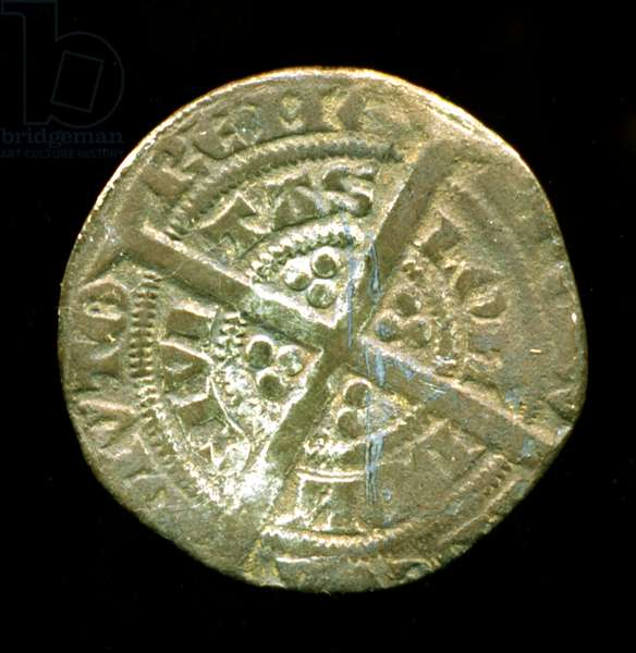 Silver Half Groat from the reign of Edward III, 1351 (silver)